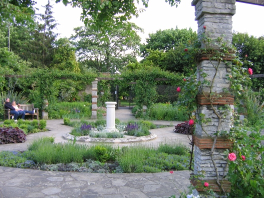 This is the scent garden in late May 2006.