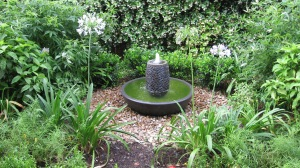I designed this garden for a couple of birdwatchers.