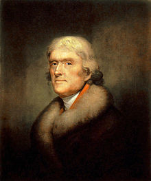 Thomas Jeffereson painting by Rembrandt-Peale-painting 1805 New York Historical Society