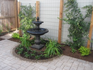Fountain bed complete.
