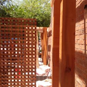 Cedar lattice panel