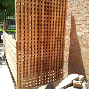 Finished cedar and mirror screen. Next the fountain and plants.