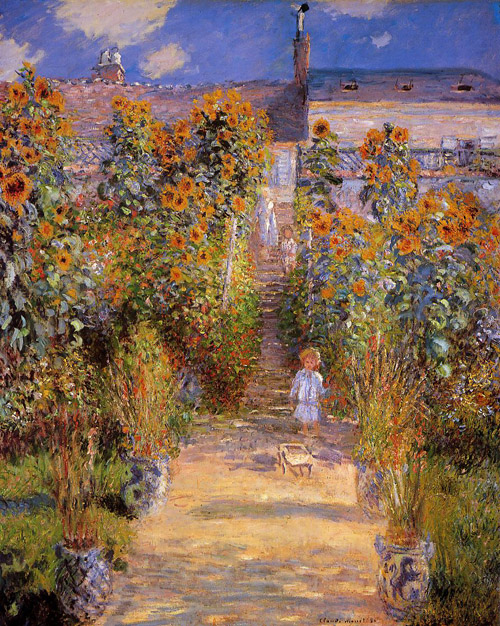 Monet's garden at Vetheuil