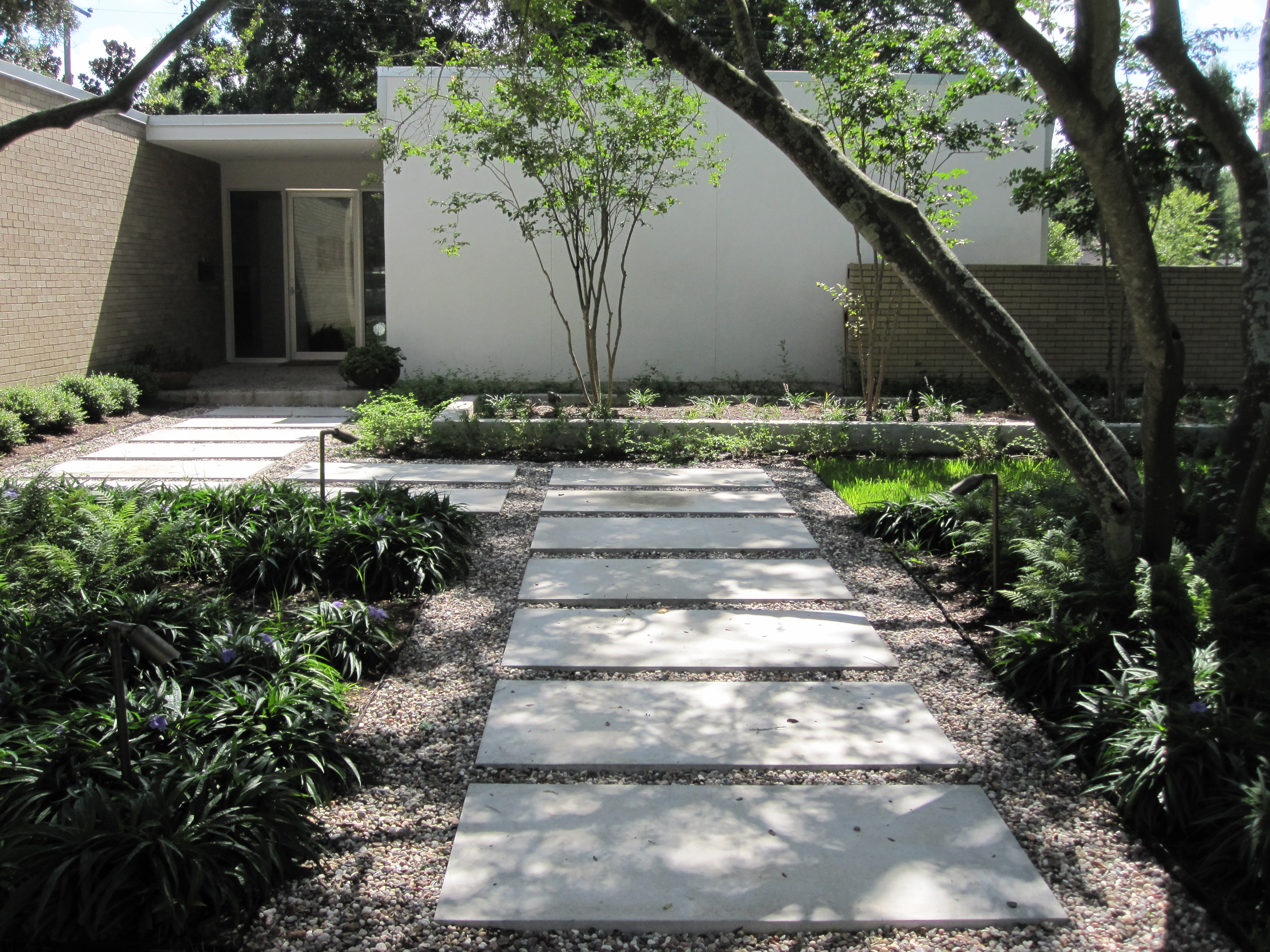 New Landscaping For A Newly Remodeled Mid Century Modern