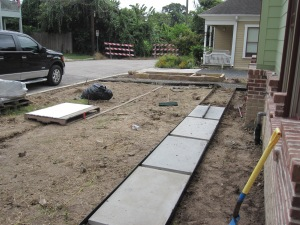 Creating new cement pad paths