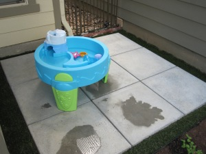Perfect spot for water play.
