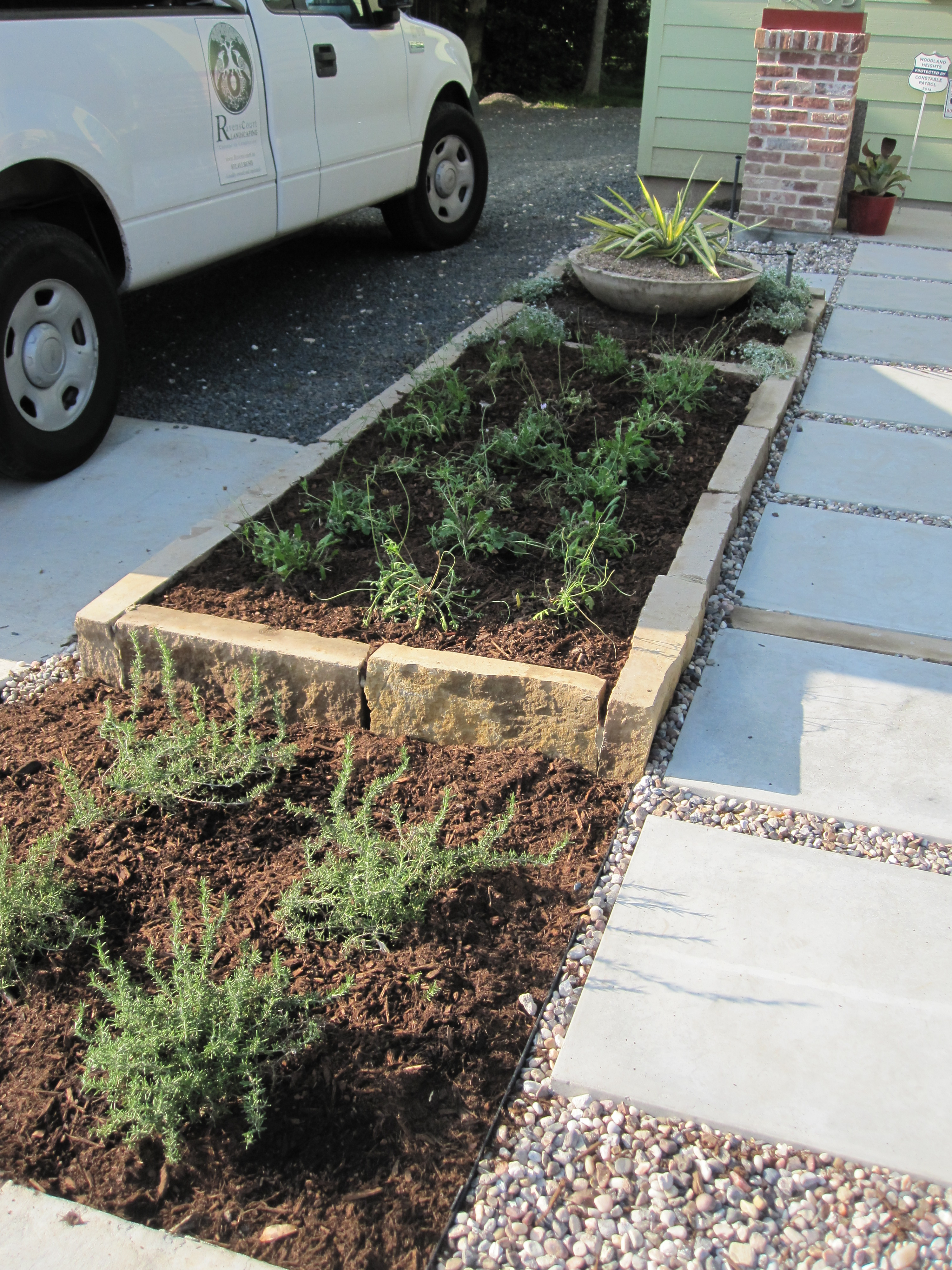 From Weeds To No Mow Austin Style Garden Part 2 The