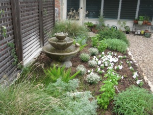 Some new additions to the herb and perennial bed. Spring 2013