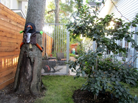 In the back ground you will see our blower and one of our crew washing off the patio.
