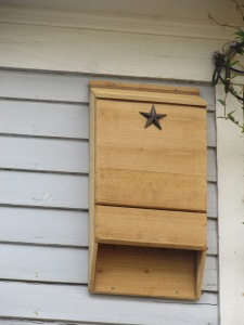 Certified Bat House from Lonestar Woodcraft.