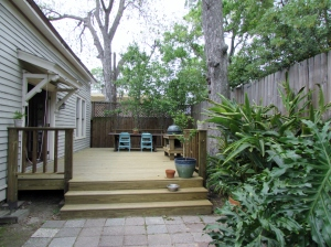 BEFORE, the deck built by the homeowner.