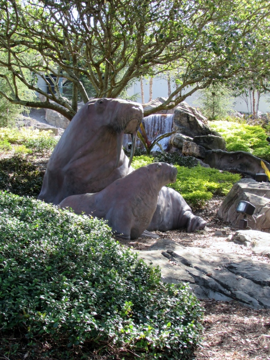 We didn't go into any of the shows but besides enjoying the landscaping we also got to see sculptures, like these sea lions.