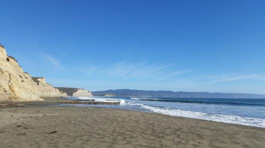 The cliffs at Drakes Beach.