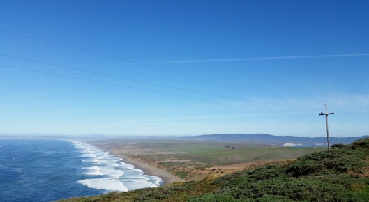 Here you can see across the point and a glimpse of Drakes Bay to the right of the photo.