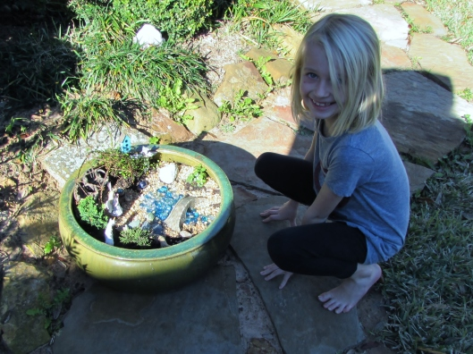 Isabelle and the fairy garden