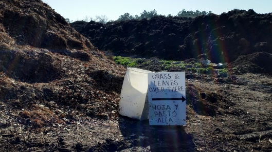 sign for green waste