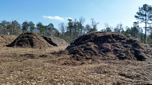 There were mounds of compost and mulch everywhere.