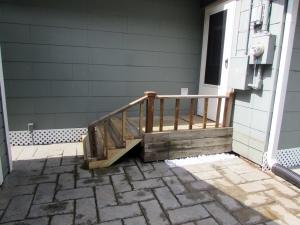 Old back steps