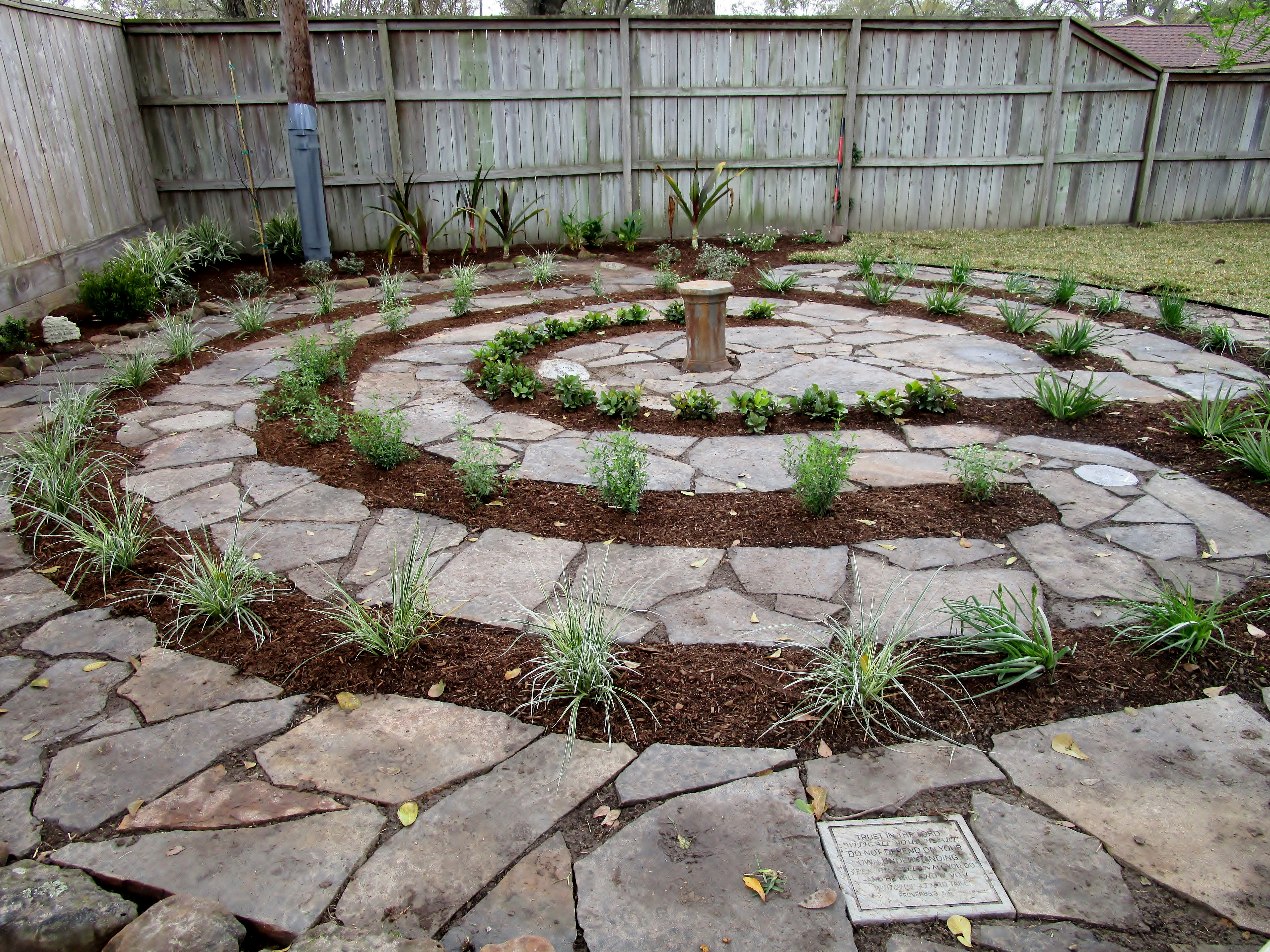 designing and constructing a labyrinth and sharing a bit of