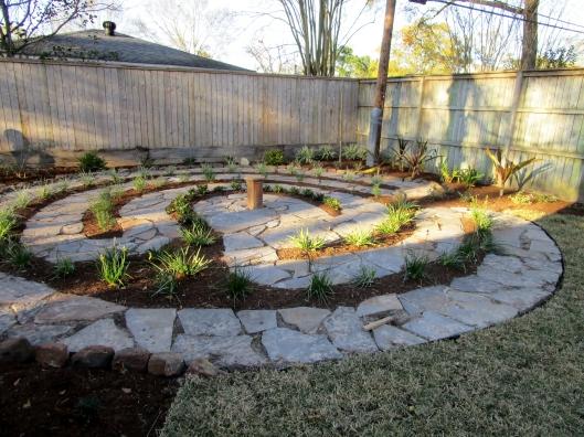flagstone labyrinth