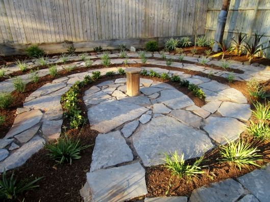 flagstone labyrinth
