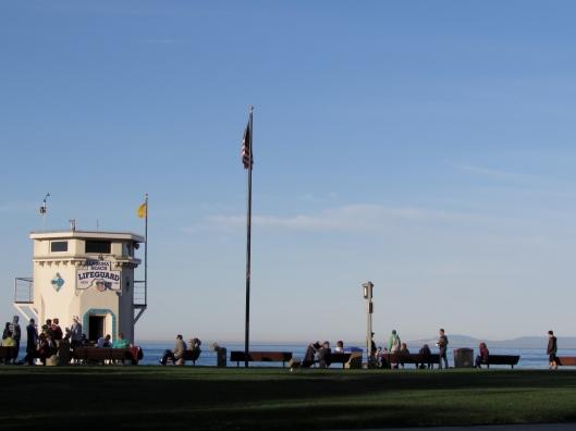 The life guard tower at Main Beach in Laguna Beach California.