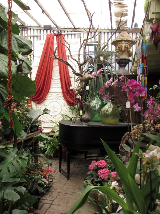 I think every greenhouse needs a baby grand.