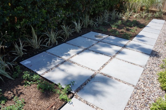 small cement pad patio
