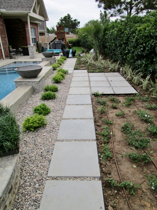 cement pad path