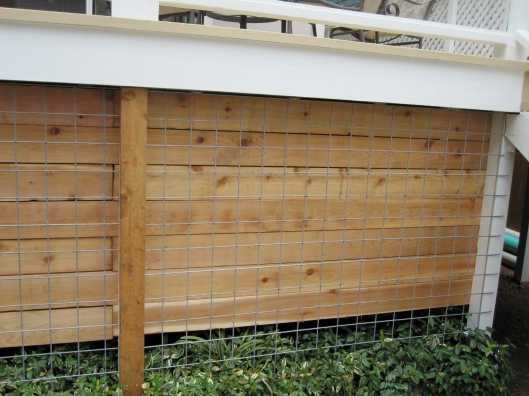 wood and hog wire panels