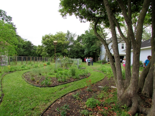 This month brought out 35 to 40 people to tour the bee garden.