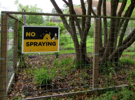 no spraying of pesticides