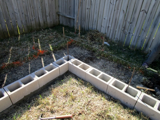 building a cinder block raised bed