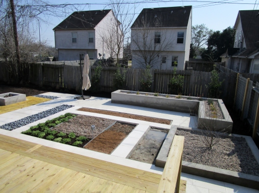 gravel in raised beds