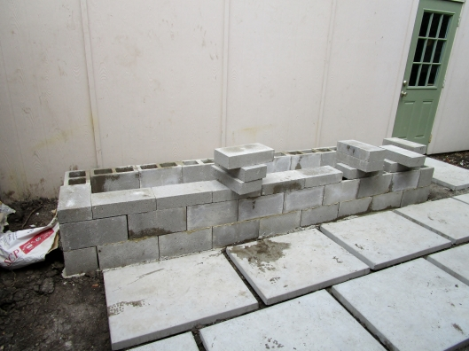 Constructing raised bed with Cinder blocks
