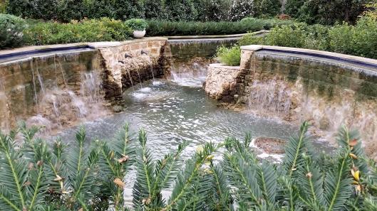 Water feature at Dallas Arboritum