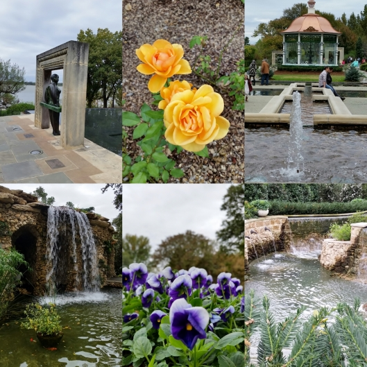 water features and flowers