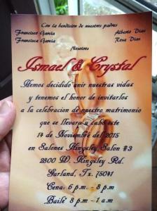 Ismael invitation