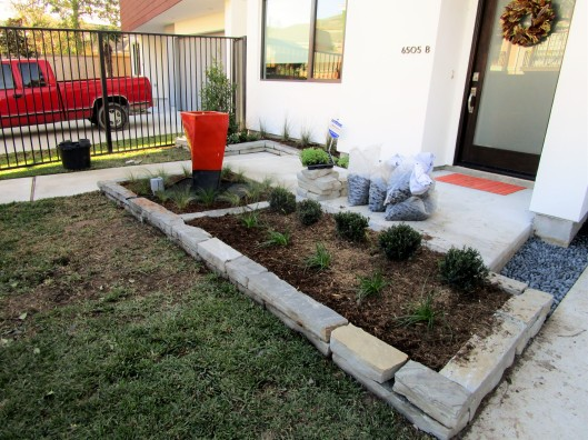 Front Garden Redo on modern Town Home by Ravenscourt Landscaping & Design LLC