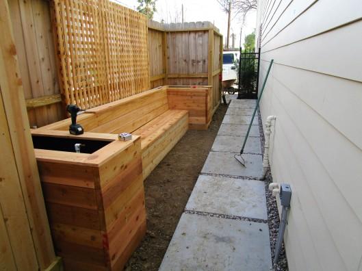 Process on tiny patio.