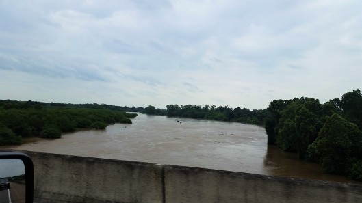 Colorado River just west of Houston on Memorial Day 2015