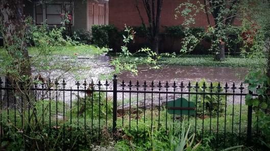 Street flooding at Ravenscourt Gardens
