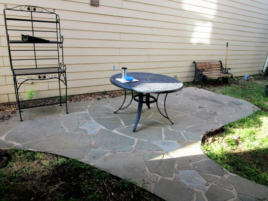 Before, old flagstone patio.