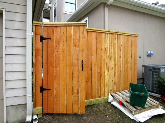 New gate and fence.