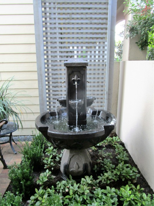 Tiered fountain.