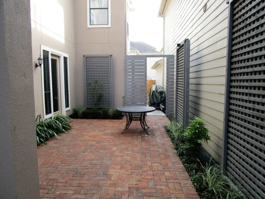 brick courtyard modern