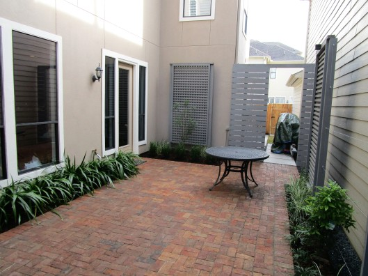 Handmade brick patio.