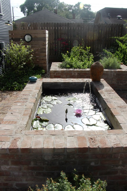Raised brick pond