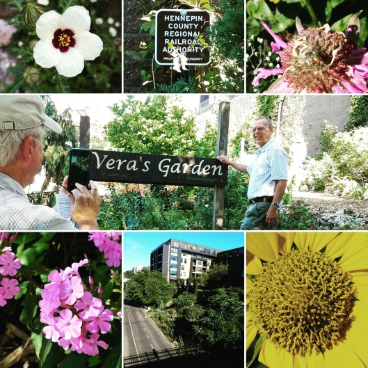 Vera's Garden. This exceptional community garden backs up to the Midtown Greenway