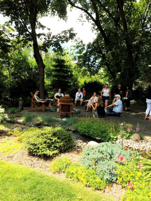 There is a cottage/guest house that is precious. I can imagine spending many evenings out here sipping wine and unwinding. Hopkins/Minnetonka six private gardens in the western suburbs of the Twin Cities